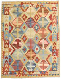 Kilim Afgan Old Style Dywan 153X200 Orientalny Tkany Ręcznie Ciemnobeżowy/Czerwony (Wełna, Afganistan)