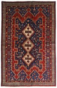 Afszar Dywan 146X224 Orientalny Tkany Ręcznie Ciemnoczerwony/Ciemnoniebieski (Wełna, Persja/Iran)