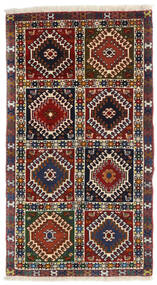 Yalameh Dywan 60X105 Orientalny Tkany Ręcznie Ciemnoczerwony/Czarny (Wełna, Persja/Iran)