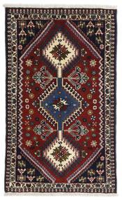 Yalameh Dywan 63X102 Orientalny Tkany Ręcznie Ciemnoczerwony (Wełna, Persja/Iran)