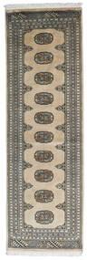 Pakistański Bucharski 2Ply Dywan 63X197 Orientalny Tkany Ręcznie Chodnik Jasnoszary/Ciemnoszary (Wełna, Pakistan)