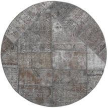 Patchwork - Persien/Iran Dywan Ø 150 Nowoczesny Tkany Ręcznie Okrągły Jasnoszary/Ciemnoszary (Wełna, Persja/Iran)