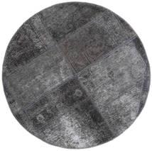 Patchwork - Persien/Iran Dywan Ø 100 Nowoczesny Tkany Ręcznie Okrągły Ciemnoszary/Jasnoszary (Wełna, Persja/Iran)