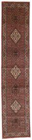Bidżar Zandjan Dywan 85X410 Orientalny Tkany Ręcznie Chodnik Ciemnoczerwony/Ciemnobrązowy (Wełna, Persja/Iran)
