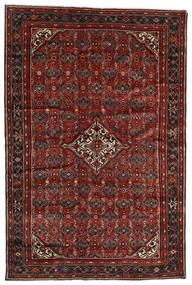 Hosseinabad Dywan 198X298 Orientalny Tkany Ręcznie Ciemnoczerwony/Ciemnobrązowy (Wełna, Persja/Iran)