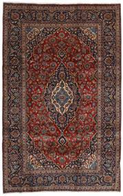 Keszan Dywan 196X309 Orientalny Tkany Ręcznie Ciemnoczerwony/Ciemnobrązowy (Wełna, Persja/Iran)