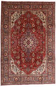 Tebriz Dywan 196X295 Orientalny Tkany Ręcznie Ciemnoczerwony/Jasnobrązowy (Wełna, Persja/Iran)