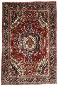 Tebriz Dywan 195X288 Orientalny Tkany Ręcznie Ciemnoczerwony/Ciemnobrązowy (Wełna, Persja/Iran)