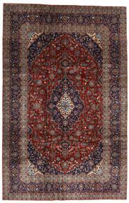 Keszan Dywan 205X313 Orientalny Tkany Ręcznie Ciemnoczerwony/Czarny (Wełna, Persja/Iran)