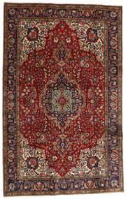 Tebriz Dywan 198X311 Orientalny Tkany Ręcznie Ciemnoczerwony/Ciemnobrązowy (Wełna, Persja/Iran)
