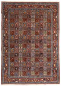 Moud Dywan 246X350 Orientalny Tkany Ręcznie Ciemnoczerwony/Brązowy (Wełna/Jedwab, Persja/Iran)