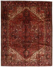 Heriz Dywan 300X382 Orientalny Tkany Ręcznie Ciemnobrązowy/Ciemnoczerwony Duży (Wełna, Persja/Iran)
