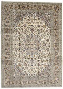 Keszan Dywan 254X351 Orientalny Tkany Ręcznie Jasnoszary/Ciemnobeżowy Duży (Wełna, Persja/Iran)