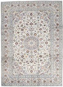Keszan Dywan 250X346 Orientalny Tkany Ręcznie Jasnoszary/Beżowy Duży (Wełna, Persja/Iran)
