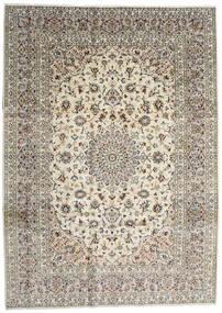 Keszan Dywan 254X353 Orientalny Tkany Ręcznie Jasnoszary/Beżowy/Ciemnoszary Duży (Wełna, Persja/Iran)