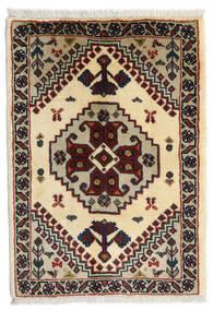 Kaszkaj Dywan 62X86 Orientalny Tkany Ręcznie Czarny/Beżowy (Wełna, Persja/Iran)