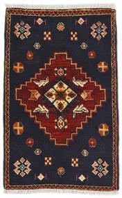 Kaszkaj Dywan 58X91 Orientalny Tkany Ręcznie Czarny/Ciemnoczerwony (Wełna, Persja/Iran)