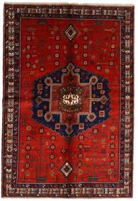 Afszar Dywan 158X232 Orientalny Tkany Ręcznie Ciemnoczerwony/Rdzawy/Czerwony (Wełna, Persja/Iran)