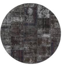 Patchwork - Persien/Iran Dywan Ø 200 Nowoczesny Tkany Ręcznie Okrągły Czarny/Brązowy (Wełna, Persja/Iran)
