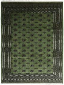 Pakistański Bucharski 2Ply Dywan 280X363 Orientalny Tkany Ręcznie Ciemnozielony/Ciemnoszary Duży (Wełna, Pakistan)