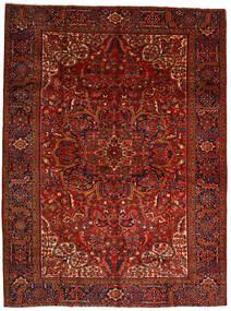 Heriz Dywan 302X403 Orientalny Tkany Ręcznie Ciemnoczerwony/Ciemnobrązowy Duży (Wełna, Persja/Iran)