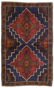 Beludż Dywan 115X186 Orientalny Tkany Ręcznie Ciemnoczerwony/Czarny (Wełna, Afganistan)