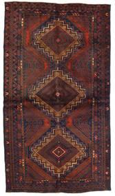 Beludż Dywan 110X195 Orientalny Tkany Ręcznie Ciemnobrązowy/Ciemnoczerwony (Wełna, Afganistan)
