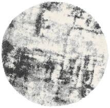 Marble Dywan Ø 150 Nowoczesny Okrągły Jasnoszary/Ciemnoszary ( Turcja)