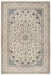 Nain 6La Dywan 260X380 Orientalny Tkany Ręcznie Jasnoszary/Beżowy Duży (Wełna/Jedwab, Persja/Iran)