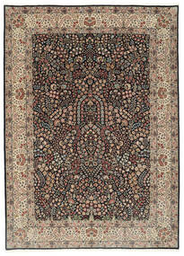 Kerman Lavar Dywan 250X348 Orientalny Tkany Ręcznie Jasnoszary/Czarny Duży (Wełna/Jedwab, Persja/Iran)