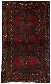 Beludż Dywan 118X190 Orientalny Tkany Ręcznie Ciemnobrązowy/Ciemnoczerwony (Wełna, Afganistan)