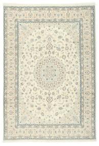 Nain 9La Sherkat Farsh Dywan 250X353 Orientalny Tkany Ręcznie Beżowy/Biały/Creme Duży (Wełna/Jedwab, Persja/Iran)