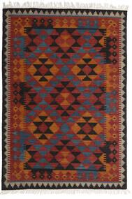 Kilim Isparta Dywan 160X230 Nowoczesny Tkany Ręcznie Ciemnoczerwony/Czarny (Wełna, Indie)