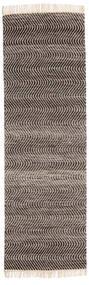 Chinara - Czarny/White Dywan 80X250 Nowoczesny Tkany Ręcznie Chodnik Ciemnobrązowy/Jasnoszary (Wełna, Indie)