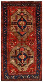 Nahawand Dywan 125X246 Orientalny Tkany Ręcznie Rdzawy/Czerwony/Ciemnofioletowy/Ciemnobrązowy (Wełna, Persja/Iran)