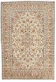 Keszan Dywan 200X295 Orientalny Tkany Ręcznie Beżowy/Ciemnobrązowy (Wełna, Persja/Iran)