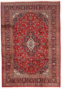Keszan Dywan 200X287 Orientalny Tkany Ręcznie Ciemnoczerwony/Ciemnobrązowy (Wełna, Persja/Iran)
