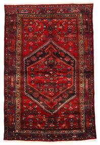 Zanjan Dywan 133X203 Orientalny Tkany Ręcznie Ciemnoczerwony/Ciemnobrązowy/Rdzawy/Czerwony (Wełna, Persja/Iran)