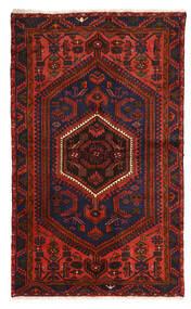 Zanjan Dywan 128X214 Orientalny Tkany Ręcznie Ciemnoczerwony/Ciemnobrązowy (Wełna, Persja/Iran)