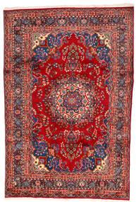 Meszhed Dywan 195X297 Orientalny Tkany Ręcznie Rdzawy/Czerwony/Ciemnoczerwony (Wełna, Persja/Iran)