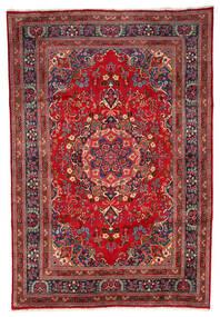 Meszhed Dywan 199X297 Orientalny Tkany Ręcznie Ciemnoczerwony/Ciemnobrązowy (Wełna, Persja/Iran)