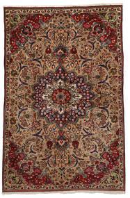 Tebriz Dywan 151X233 Orientalny Tkany Ręcznie Ciemnobrązowy/Jasnobrązowy (Wełna, Persja/Iran)