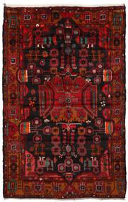 Nahawand Dywan 165X260 Orientalny Tkany Ręcznie Ciemnobrązowy/Ciemnoczerwony/Rdzawy/Czerwony (Wełna, Persja/Iran)