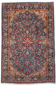 Kerman Dywan 186X288 Orientalny Tkany Ręcznie Ciemnoczerwony/Czarny (Wełna, Persja/Iran)
