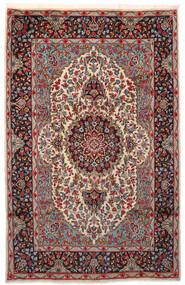 Kerman Dywan 180X281 Orientalny Tkany Ręcznie Ciemnoczerwony/Ciemnobrązowy (Wełna, Persja/Iran)