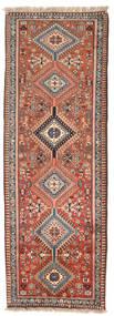Yalameh Dywan 75X260 Orientalny Tkany Ręcznie Chodnik Ciemnoczerwony/Jasnoszary (Wełna, Persja/Iran)