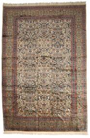 Kerman Ca. 1980 Dywan 391X584 Orientalny Tkany Ręcznie Jasnobrązowy/Ciemnoszary Duży (Wełna, Persja/Iran)