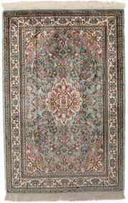 Kaszmir Czysty Jedwab Dywan 65X96 Orientalny Tkany Ręcznie Jasnoszary/Ciemnoszary (Jedwab, Indie)