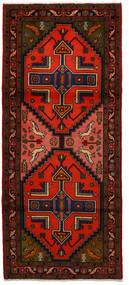 Nahawand Dywan 85X199 Orientalny Tkany Ręcznie Chodnik Ciemnobrązowy/Rdzawy/Czerwony (Wełna, Persja/Iran)