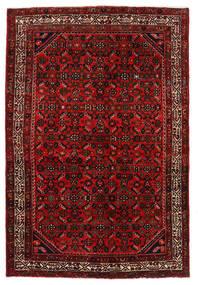 Hosseinabad Dywan 136X203 Orientalny Tkany Ręcznie Ciemnoczerwony/Rdzawy/Czerwony (Wełna, Persja/Iran)